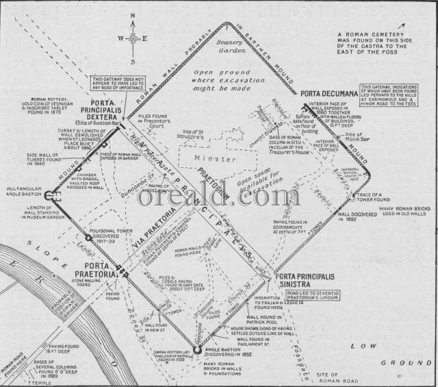 Plan of Eboracum,
