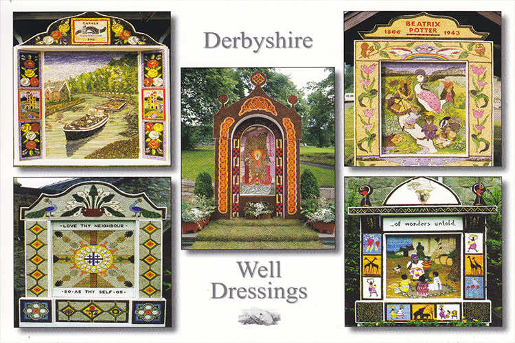 Well-dressing postcard