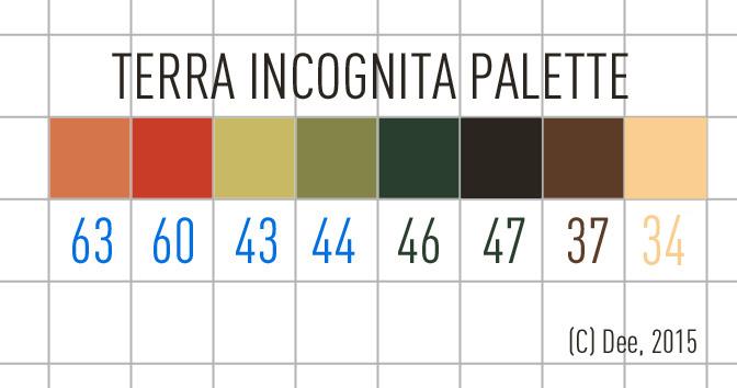Terra Incognita Colour Palette